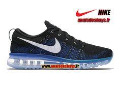 f7cdce8901b Boutique Officiel Nike Flyknit Air Max Homme Noir Bleu électrique Bleu lagon Blanc  620469-014