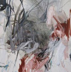 Laurence GARNESSON, PANGEA-2014-146-x-89-cm-huile-et-medium-sur-toile
