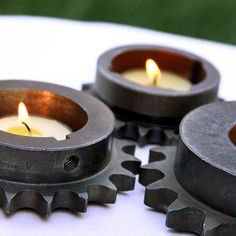 Gear Cog Tea Light Holders by Civilized