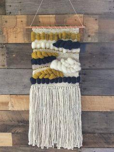 Handmade woven wall art by SunWoven on Etsy