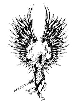 Warrior Tattoo, Warrior Tattoos, Graffiti, Sketches, Nordic Tattoo, Angel Tattoo Designs, Valkyrie Tattoo, Archangel Tattoo, Tattoo Designs