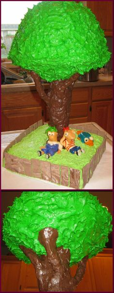 Phineas and Ferb cake I made for my daughters birthday last year