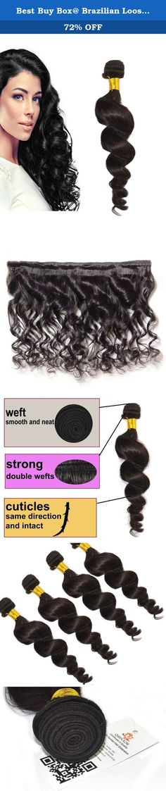 Best Buy Box@ Brazilian Loose Wave Hair Extensions, Pure Natural Remy Human Hair Never Chemically Processed, Tangle Free All Hair Cuticles Flow in Same Direction, 12 Inch -30 Inch, 100g/ Bundle #1b Natural Color (20). Are you looking for high quality hair extensions? You are now making right decision to shop with us! This is 100% 5A TRUE virgin remy human hair extensions with Smooth, Bouncy, Tangle Free, and Long Lasting Queen Rose Hair is sold by Best Buy Box only! Human Hair Can Be…