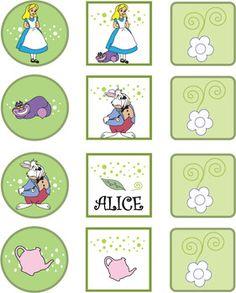 free alice in wonderland printable stickers