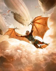Steampunk : pour l'Empire et le spleen Fantasy Concept Art, Fantasy Character Design, Dark Fantasy, Character Art, Fantasy Art, Steampunk Ship, Steampunk Design, Steampunk Wings, Rpg Cyberpunk