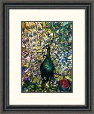 Global Gallery 'Fine Peacock' Framed Painting Print