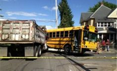 Dump Truck Driver Cited in Collision with School Bus: The driver of a dump truck involved in a crash with a Holyoke school bus last week has been cited. Holyoke Police Sgt. Stephen Loftus says that the truck driver, whose name has not been released, is being cited for running a red light.