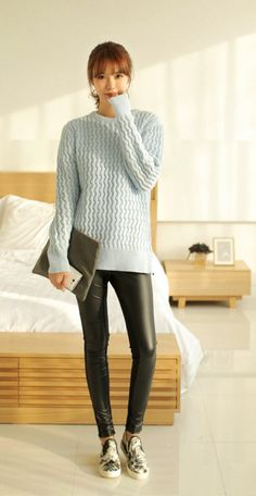 #다홍 #파스텔 #니트 #심플 #dahong #pastel #knit #simple