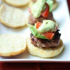 Turkey Burgers with Avocado Ranch Dressing