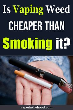 Is vaping weed cheaper than smoking it? If yo are looking to save money and your cannabis, vaping may be the way to go. Vaping Weed, Cannabis Vape, American Lung Association, First Blog Post, Up In Smoke, Sexy Ebony, Ganja, Better Life, Burns