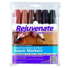 Rejuvenate Wood Furniture and Floor Repair Markers-RJ6WM at The Home Depot