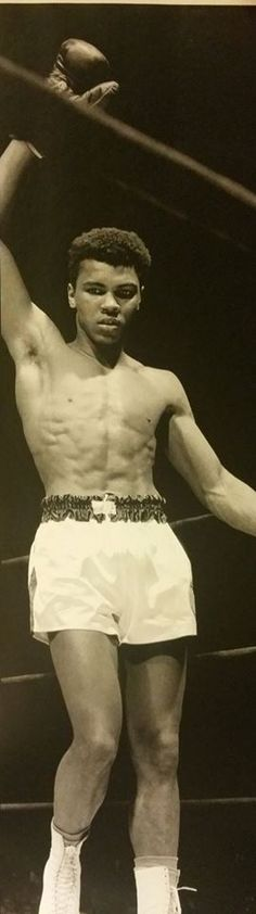 The young Cassius Clay.  RIP Champ, we'll remember you.  For ever.