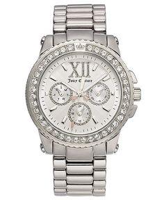 Juicy Couture Watch, Women's Pedigree Stainless Steel Bracelet 1900710