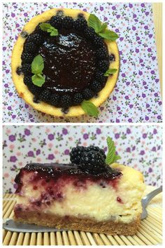 Irresistible cheesecake de naranja con moras / http://www.mrmlada.com/