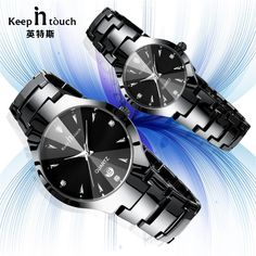 2017 Luxury Brand Lover Watch Pair Waterproof Noctilucent Men Women Couples Lovers Watches Set Wristwatches Relogio Feminino - Online Shopping for Watches