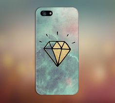 Watercolor Waves x Gold Diamond Case for iPhone and Samsung