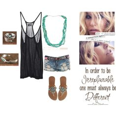Turquoise Casual, created by silvertribe on Polyvore