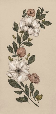 Floral Laurel Art Print by Jessica Roux   Society6