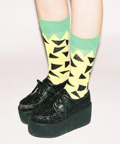 Lazy Oaf | Lazy Oaf Pineapple Socks