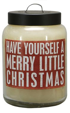 Christmas Decor Candle. Have yourself a merry little Christmas.