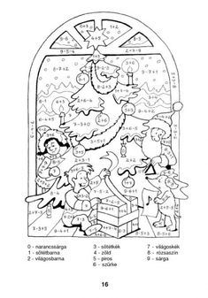 Színező 10-ig - kisferenc.qwqw.hu Christmas Drawing, 1st Grade Math, Math Activities, Cool Kids, Teacher, Education, School, Handmade, Fictional Characters