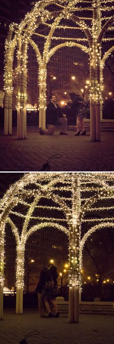 The lighting makes this proposal even more romantic!