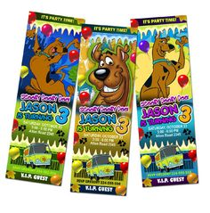Free Scooby Doo Birthday Invitations Printable