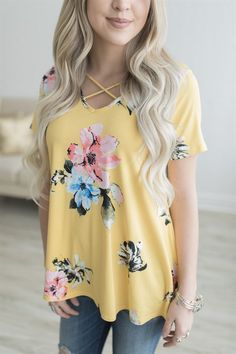 Criss-Cross Floral Tunic