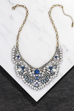 We've got a case of the blues, we can't stop admiring this lovely azure statement necklace.