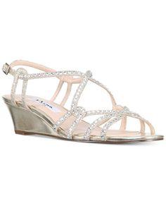 5bee05e49555 Nina Finola Strappy Rhinestone Wedge Sandals Shoes - Sandals   Flip Flops -  Macy s