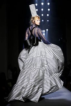 Frida Gustavsson at Jean Paul Gaultier Haute Couture Fall 2015