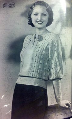 What Kate-Em did next.: Patons and Baldwins archive part one - 1930's jumpers and cardigans