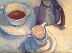 "Daily Paintworks - ""Coffee time"" - Original Fine Art for Sale - © Susan Guzzetta"