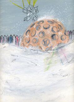 Cartolina Casa geodetica di theberingsea su Etsy