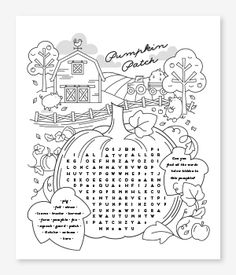 Pumpkin Patch - Halloween Coloring Pages DIY for kids | Minted