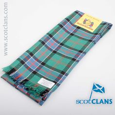 Sinclair Hunting Ancient Tartan Scarf. Free worldwide shipping available
