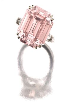 The Graff Pink Diamond, 24.78 carats ~ Most expensive diamond ever sold in auction, sold by Sotheby's in Switzerland on 11/16/10, for a cool 46 million dollars.