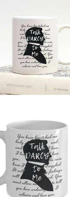 Bookworm for Her, Jane Austen Gifts, Bookish Items, TALK DARCY to ME, Funny Mugs, Mr Darcy, Pride and Prejudice, Book Quote, Librarian Gifts #affiliatelink
