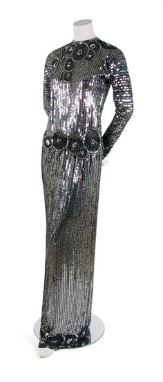A Halston Sequined Two Piece Evening Ensemble, 1970's