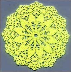 Toalhinha decrochéavulsa pode virar um jogo de toalhinhas O amarelo que não éfavorávelpara alguns lugares pode ser trocado pela cor d...
