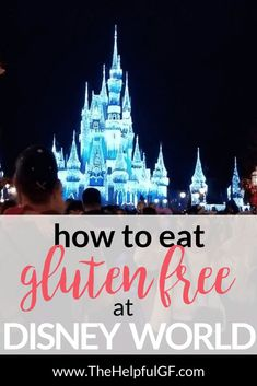 Planning a trip to Disney World in Orlando and needing to eat gluten-free or allergy friendly?  Whether you're eating meals at restaurants at Magic Kingdom or the resorts, pin now for my top tips for finding and enjoying gluten free food at Disney World.  #glutenfree #disneyworld #foodallergies