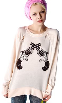 Wildfox Couture Showdown Destroyed Sweater | Dolls Kill