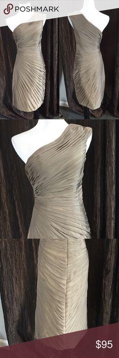 Bari Jay Dress Beautiful bronze dress...Homecoming or any black tie event, by Bari Jay, size 4. NWOT Bari Jay Dresses One Shoulder