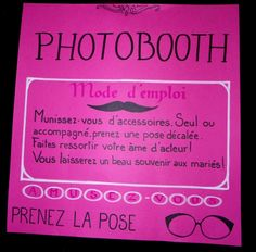 tableau explicatif photobooth on pinterest photo booths photo booth signs and mariage. Black Bedroom Furniture Sets. Home Design Ideas
