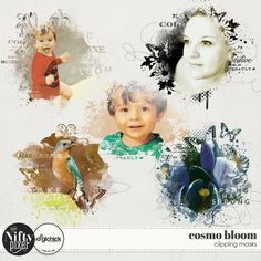 Cosmo Bloom Clipping Masks by The Nifty Pixel These Spring inspired photo clipping masks are a great way to create points of interest and texture on your pages. Simply clip a photo or a paper to add some textured qualities in your background layers.  PACK INCLUDES:  5X Clipping Masks. All products are saved at 300ppi for optimum printing quality.