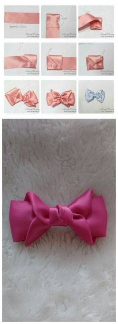 10 x Satin Ribbon little bows wedding party birthday decor crafts 52 mm pink