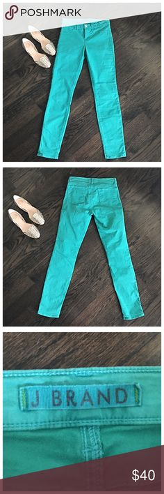 J Brand Saint Tropez Blue Skinny Jeans Skinny jeans by J Brand. Size 26. Ankle length(29 inch inseam). Excellent condition. J Brand Jeans Skinny