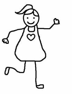 Vorschule Basteln – Rebel Without Applause Valentine Words, Valentine Crafts, Diy For Kids, Gifts For Kids, Stick Figure Drawing, Drawing Lessons For Kids, People Figures, Crafty Kids, Stick Figures