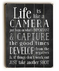 Look at this 'Life Is Like a Camera' Wood Wall Art on #zulily today!
