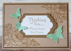Stampin' Up! UK Feeling Crafty - Bekka Prideaux Stampin' Up! UK Independent Demonstrator: Sympathy Card Made Using Stampin' Up! UK Supplies